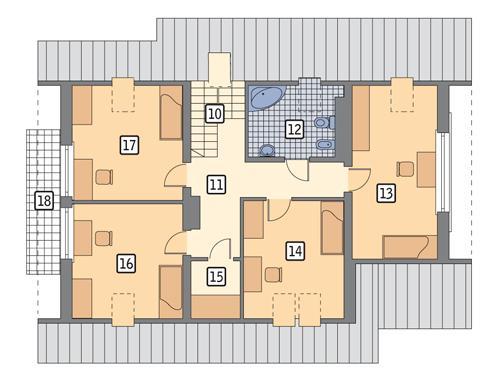Rzut poddasza POW. 110,6 m²