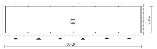 Rzut parteru POW. 179,5 m²