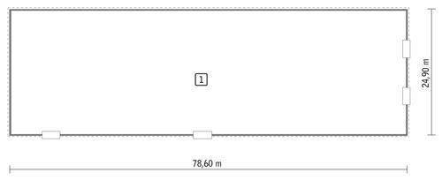 Rzut parteru POW. 1 926,2 m²