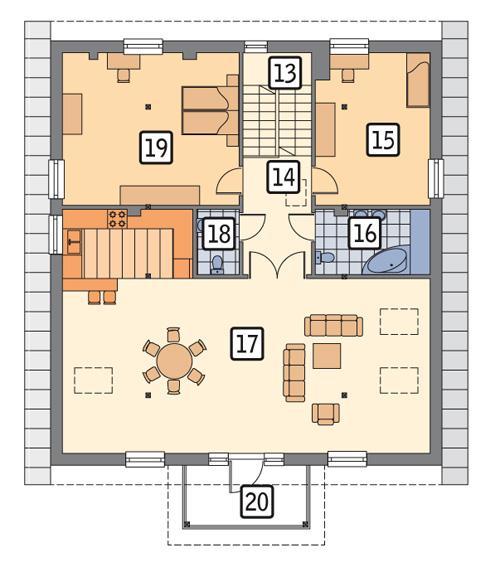 Rzut poddasza POW. 139,9 m²